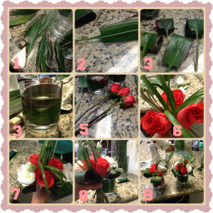 Cómo hacer los ramitos para un conjunto de floreritos