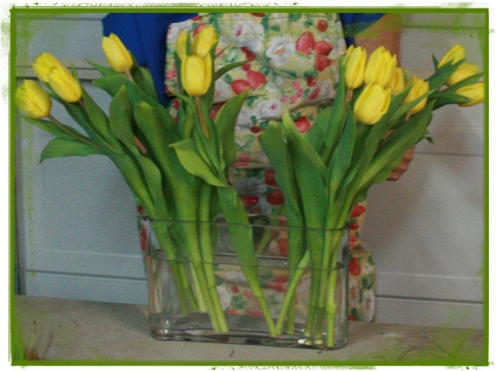 Tulipanes de 3 en 3