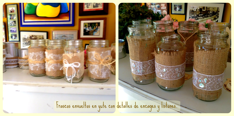 Decoracion Vintage Para Bautizo ~ Centros de mesa en frascos estilo vintage para bautizo ? Ana Galena