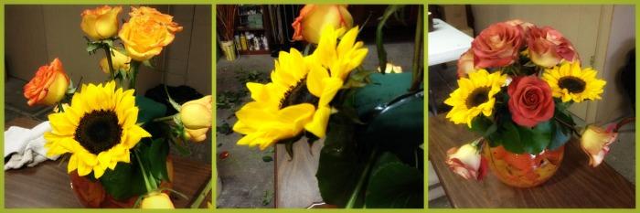 Acomodo girasoles