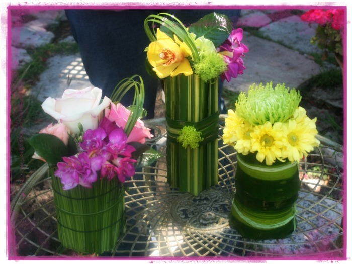 Conjunto de arreglos florales