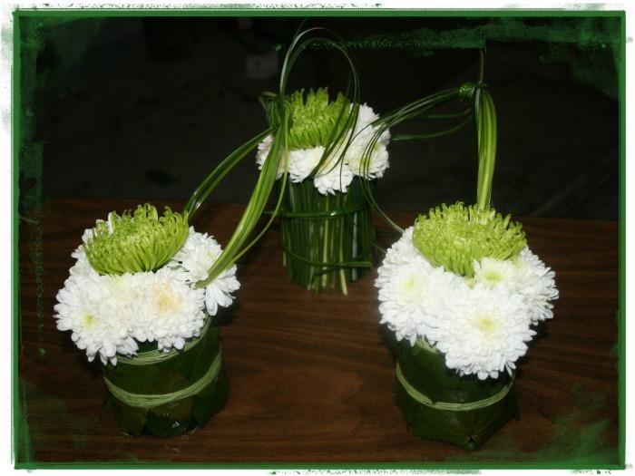 Conjuntos con crisantemos
