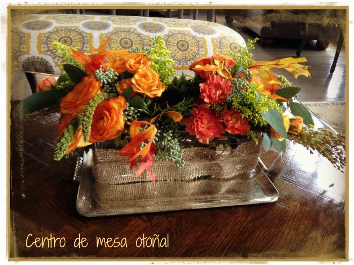Centro de mesa para otoño