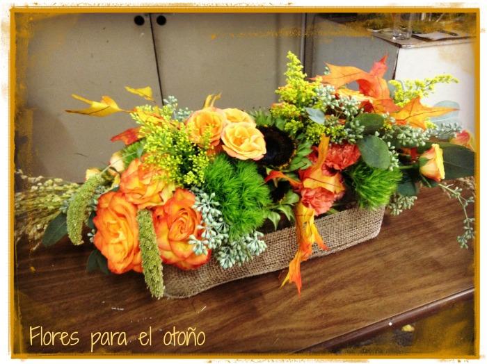 Arreglo con flores de otoño