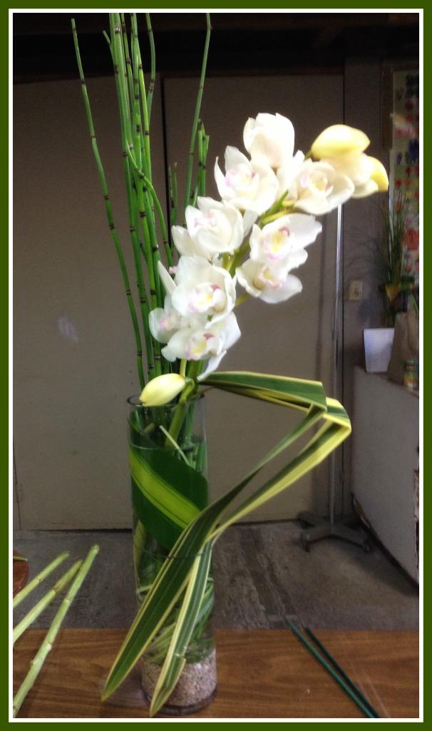 Agregamos tallo orquidea