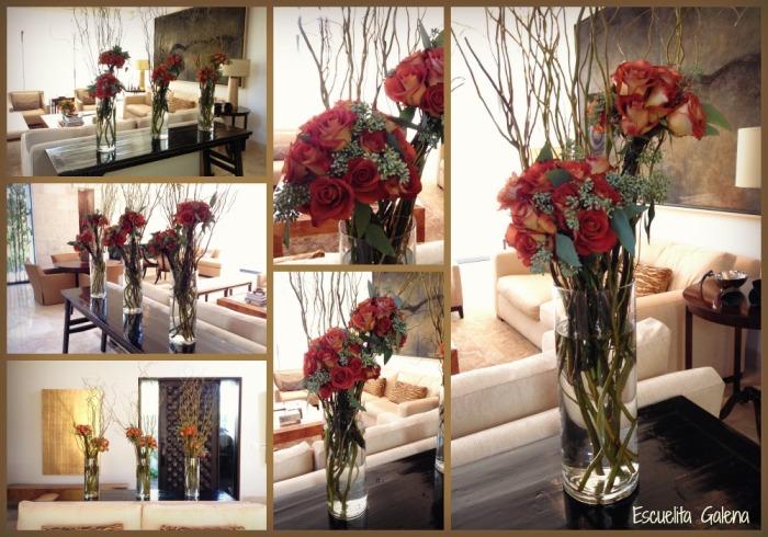 entrada con cilindros y rosas