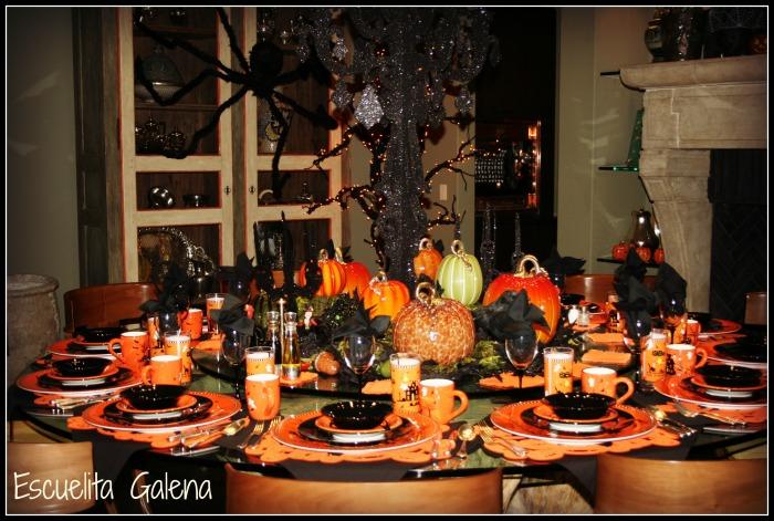 Mesa lista para halloween