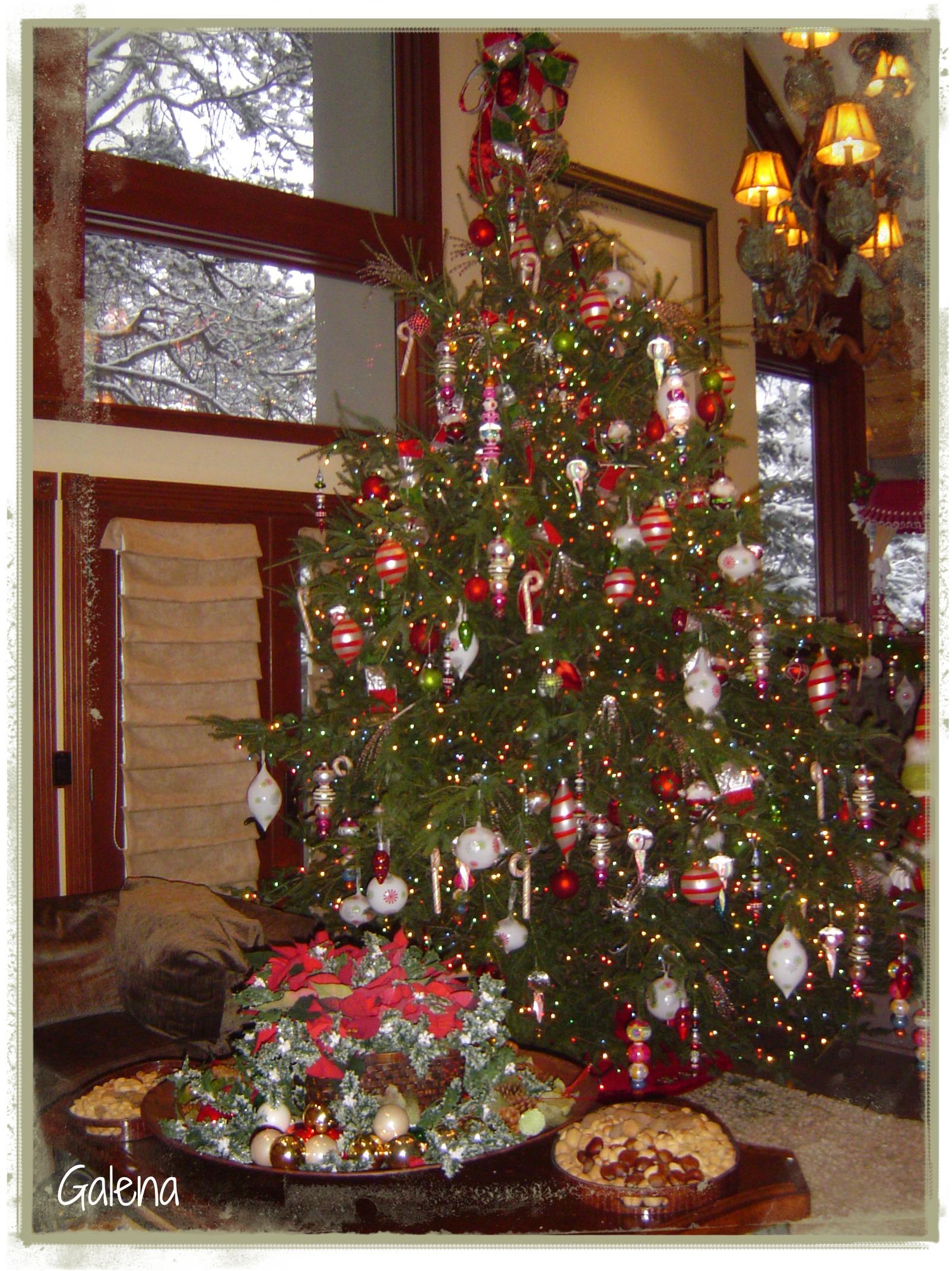 Navidad en las monta as escuelita de flores galena - Adornos de navidad para las puertas ...