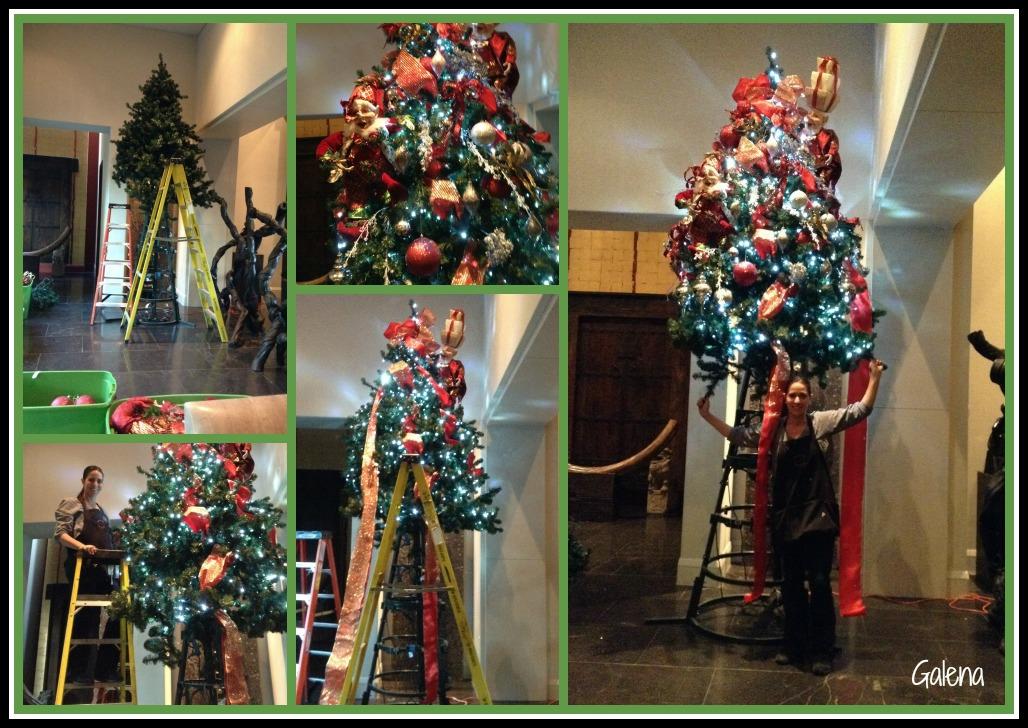 Decorando el rbol de navidad con elfos ana galena - Arbol navidad elegante ...