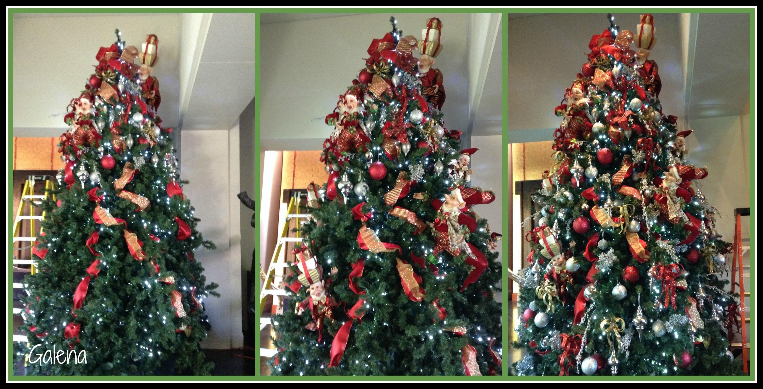 Decorando el rbol de navidad con elfos ana galena - Decoracion para arboles navidenos ...