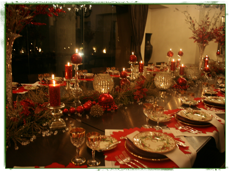 La cena navide a ana galena - Adornos navidenos para mesas ...