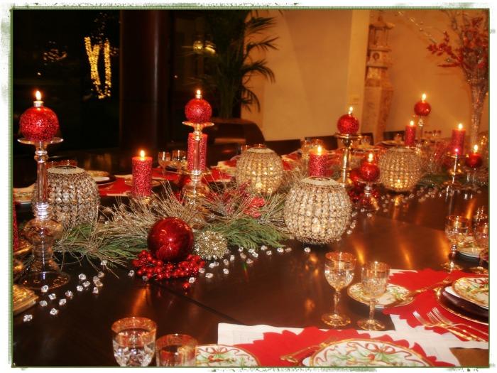 detalles mesa navideña