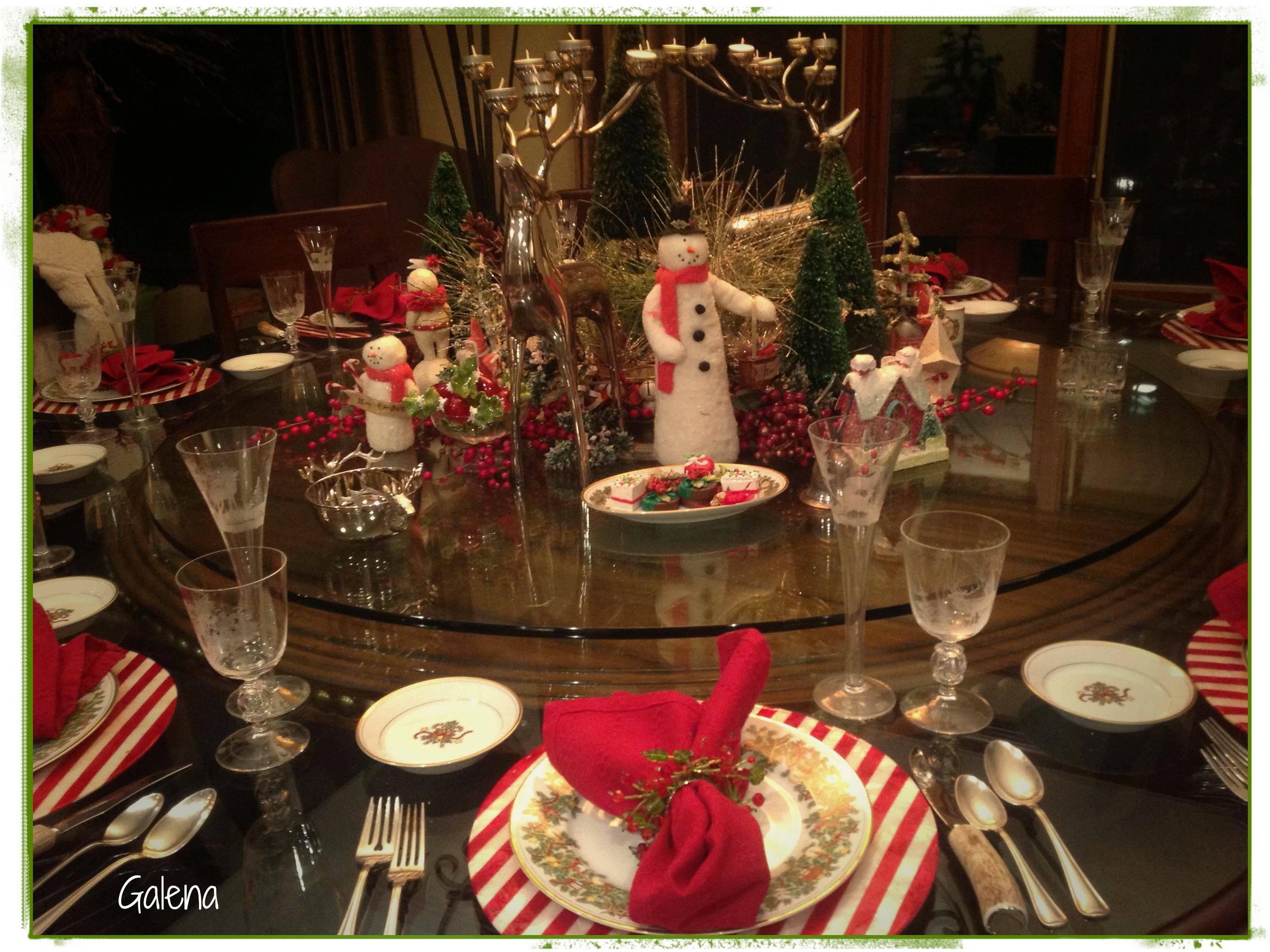 Navidad en las monta as escuelita de flores galena - Decoracion mesa navidena 2014 ...