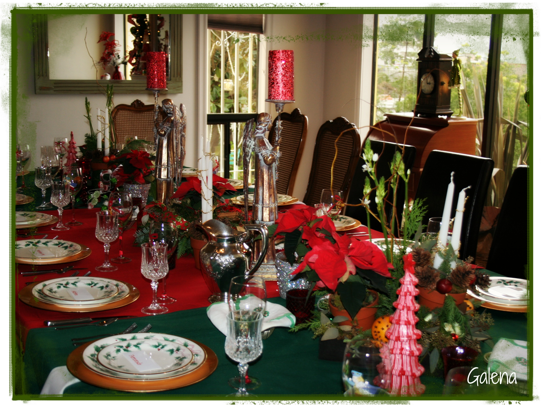Centro de mesa navide o escuelita de flores galena - Ver decoraciones de salones ...