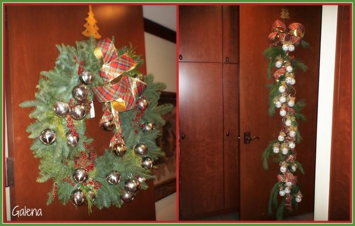 la puerta navideña