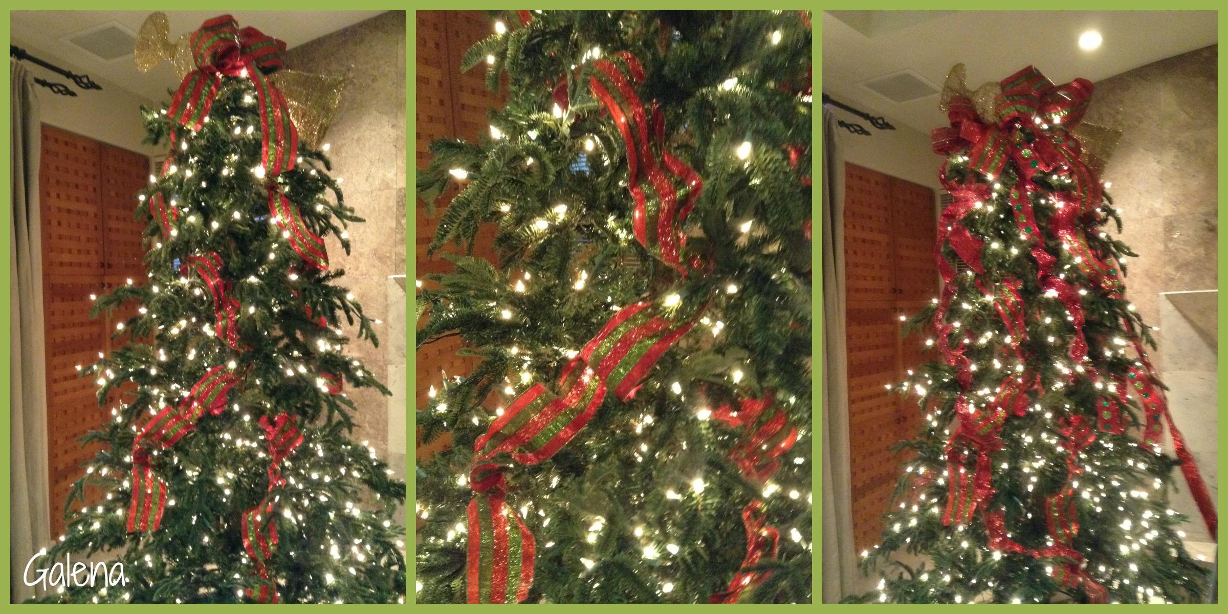 para poner los listones al rbol de navidad