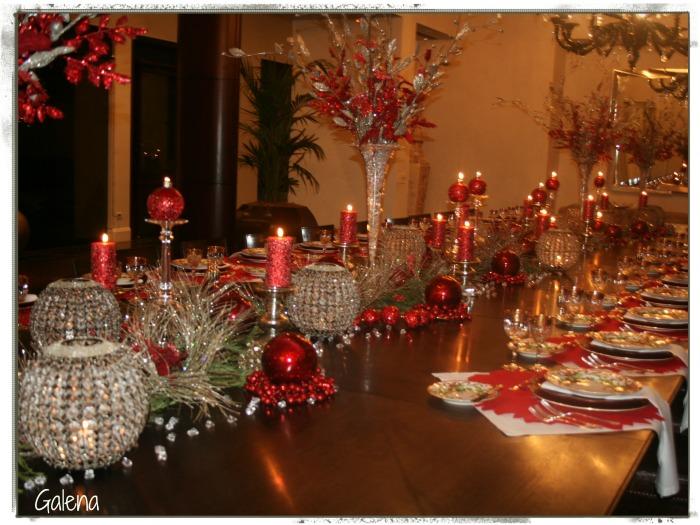 mesa navideña detalles