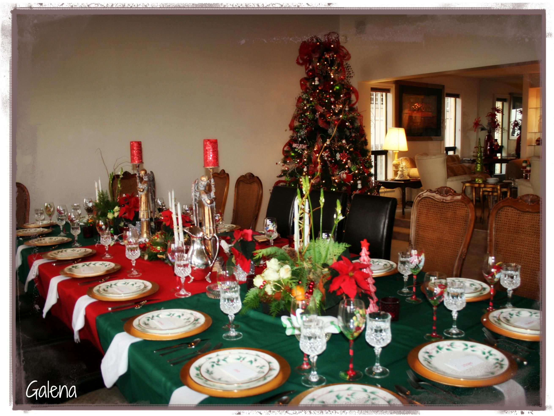 Centro de mesa navide o escuelita de flores galena - Mesa navidena ...