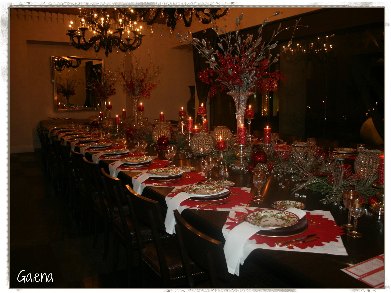 La cena navide a escuelita de flores galena - Decoracion mesa navidena 2014 ...