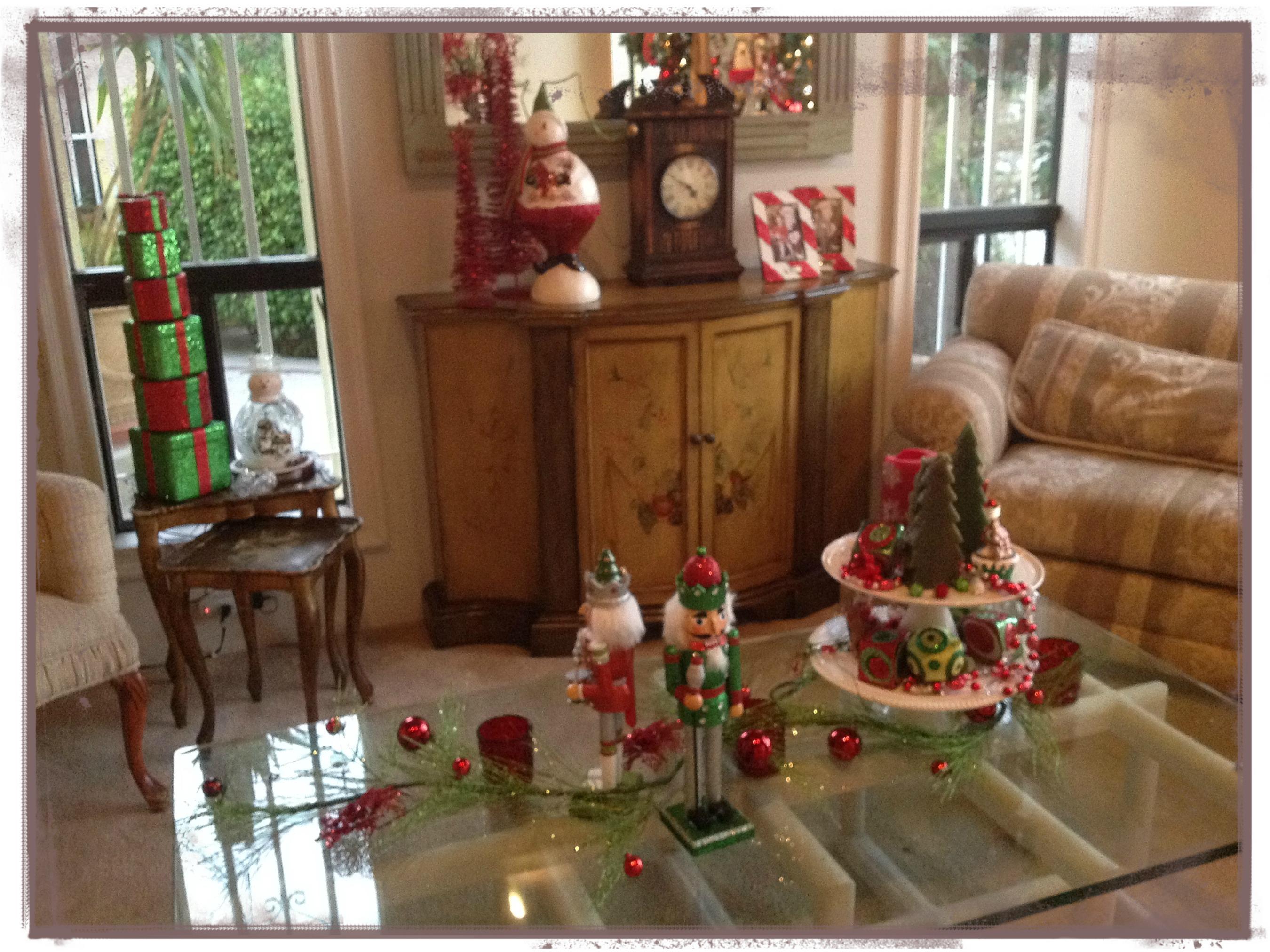 decoracion navide a mesa de sala