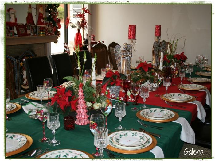 otro angulo de la mesa navideña