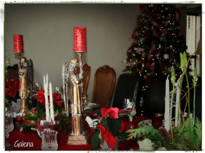 portavelas mesa navideña