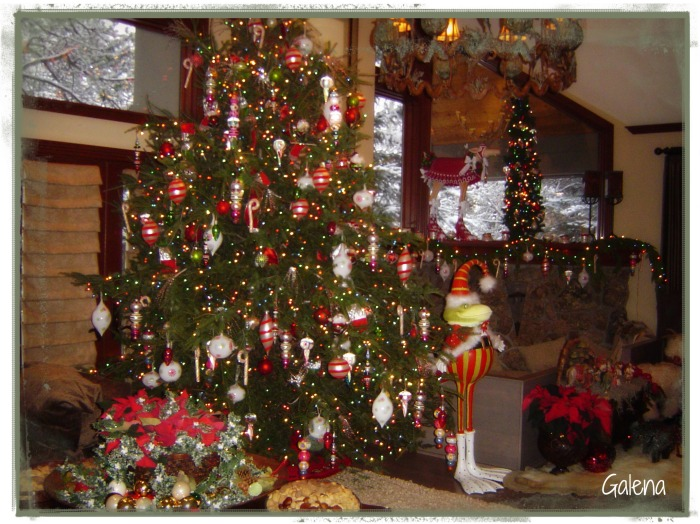 vista decoracion navideña