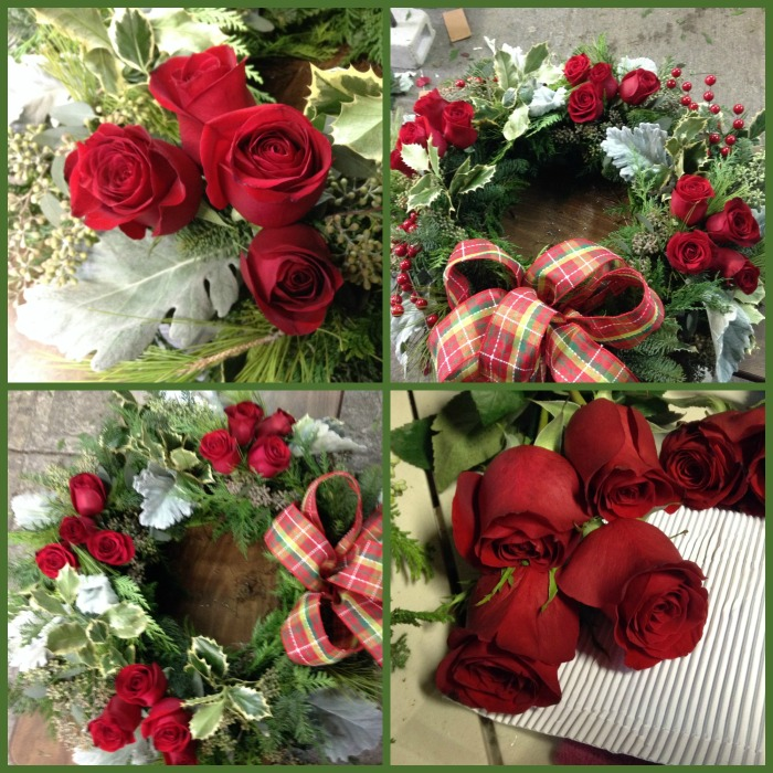 acomodando las rosas