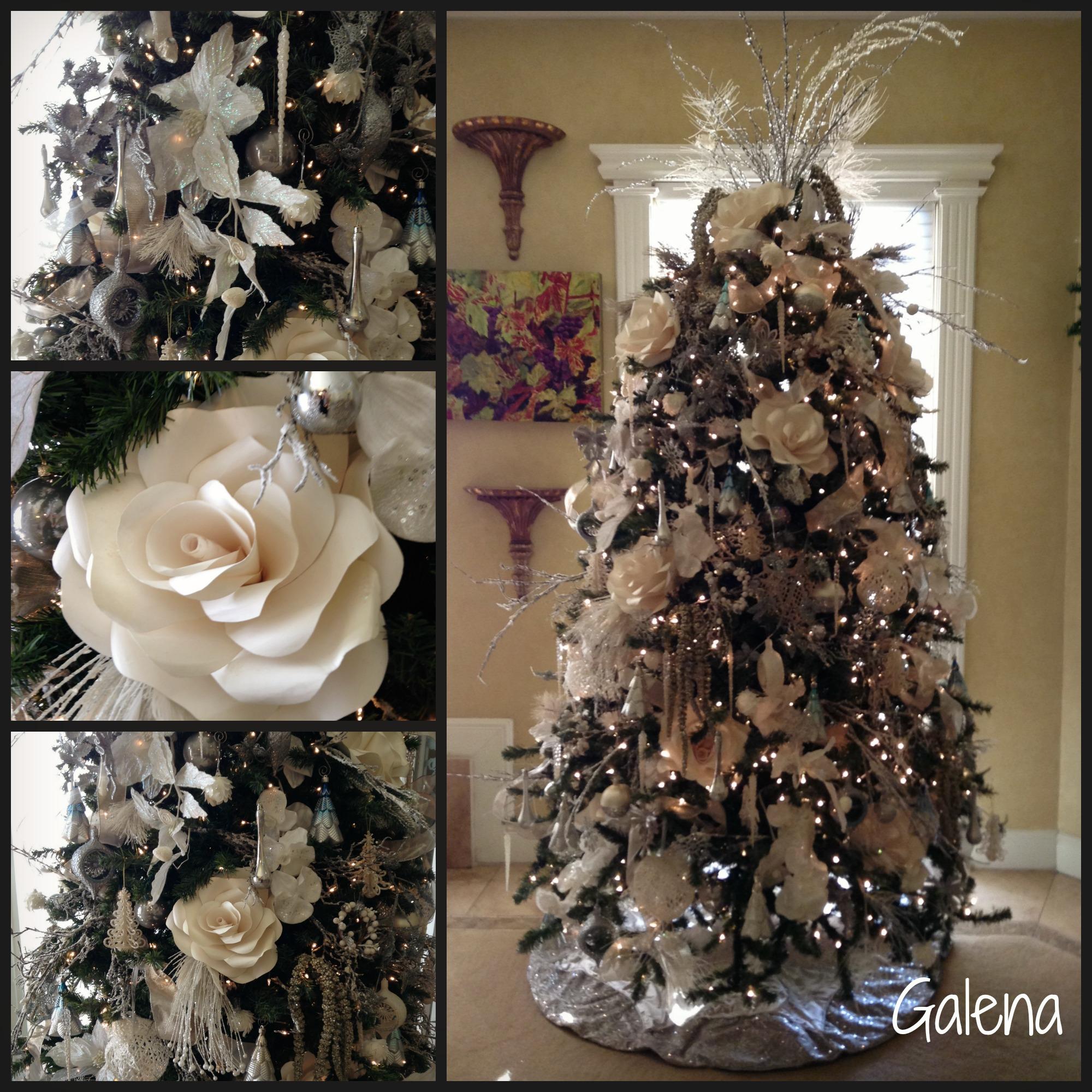Ideas para decorar el rbol de navidad ana galena - Arbol de navidad en blanco ...