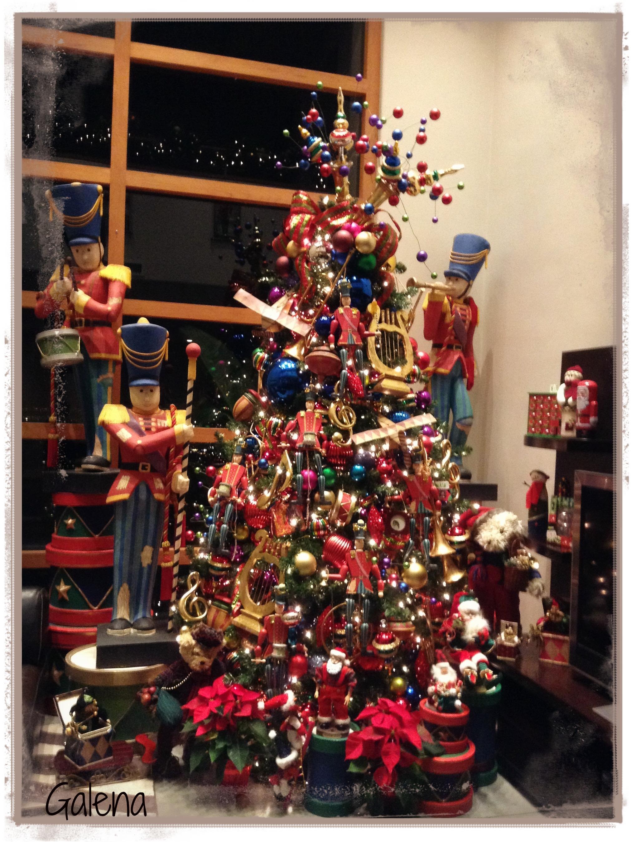 Decoraci n navide a escuelita de flores galena - Decoracion arbol navideno ...