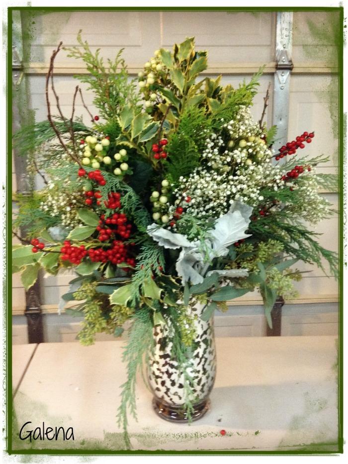 florero navideño