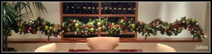 la guirnalda navideña