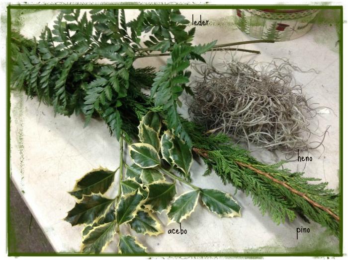 material para arreglo floral