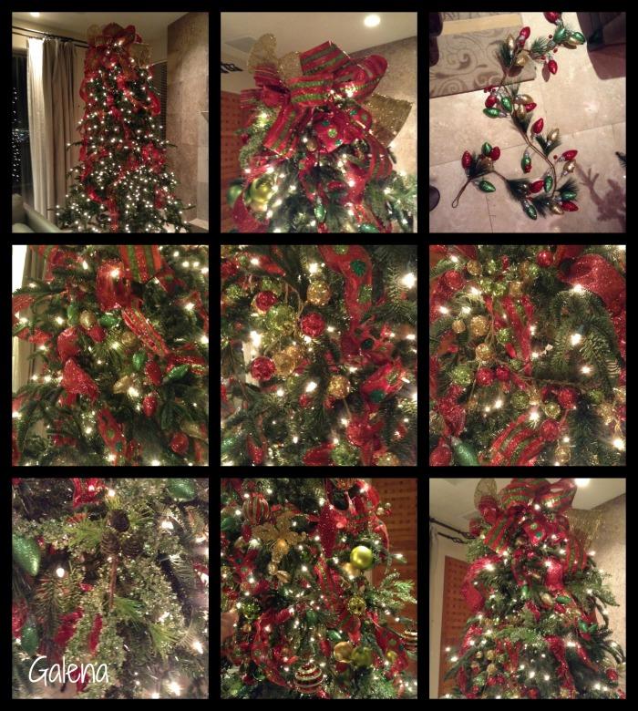 Poniendo el árbol de navidad