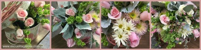 flores arreglo vintage