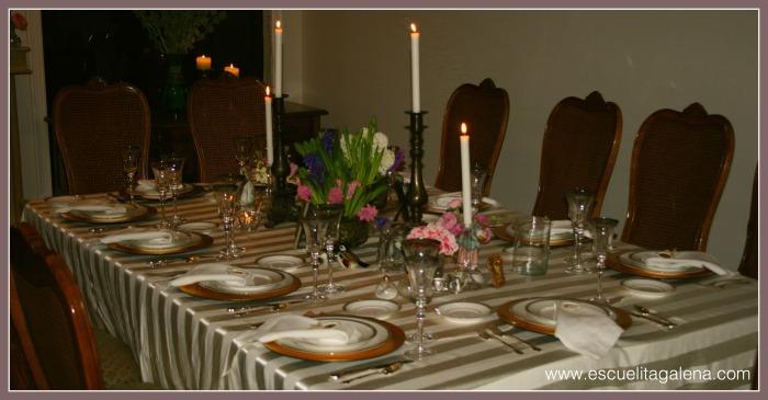 jacintos para decorar la mesa