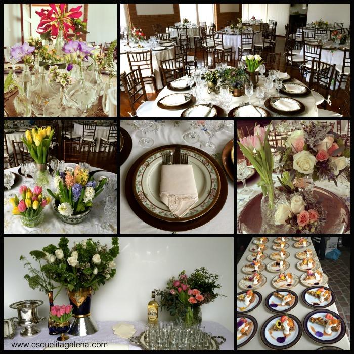decoración fiesta de cumpleaños con flores