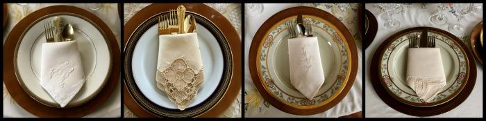 servilletas para decoración mesa formal