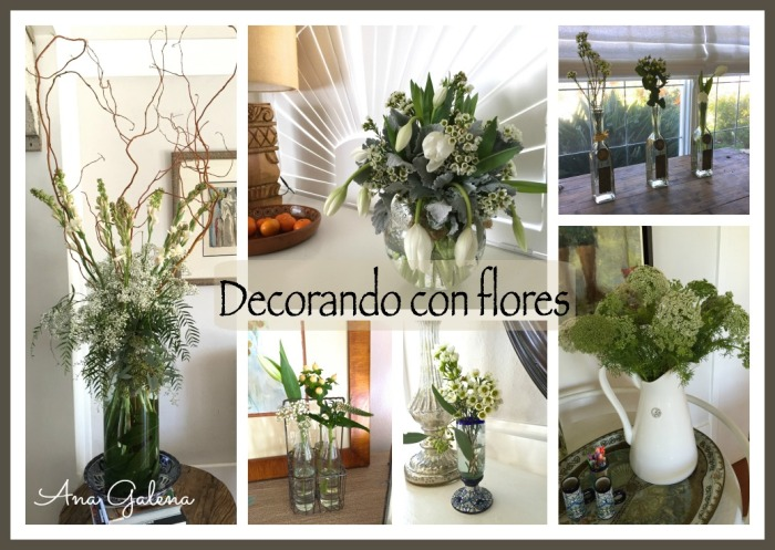 Decorando con flores