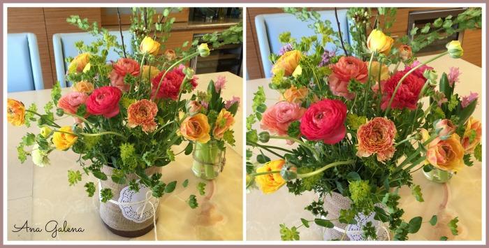 florero con renáculas