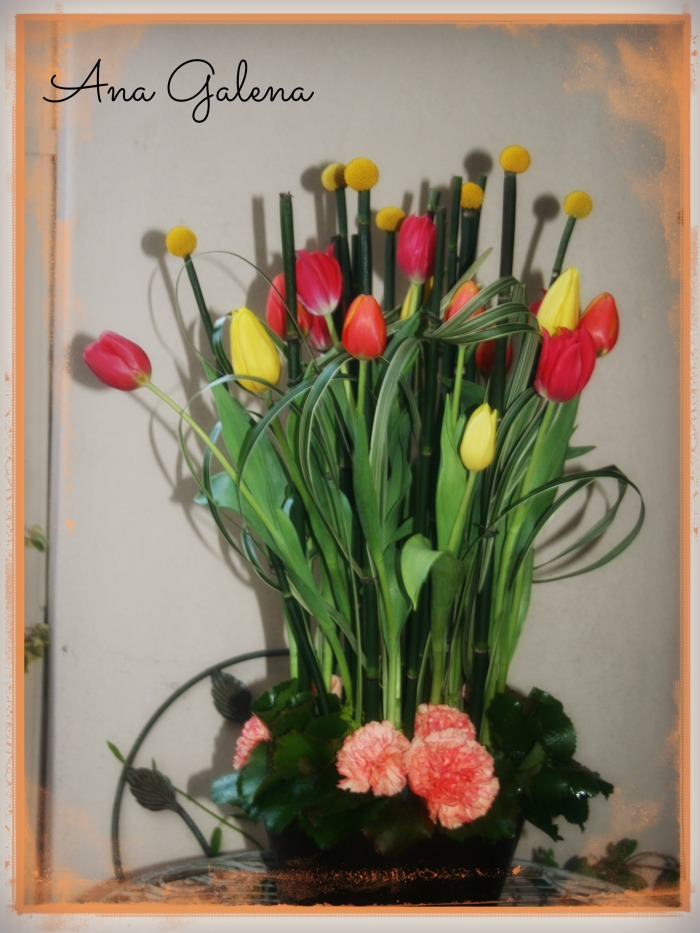 tulips arreglos de flores con tulipanes