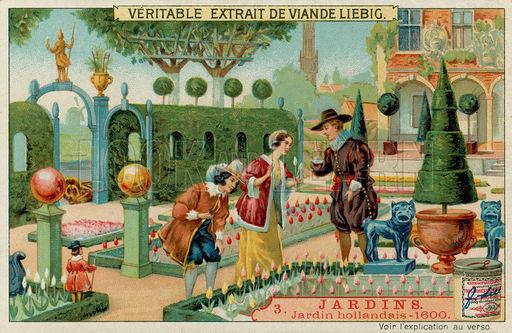 Jardín holandes en los 1600's