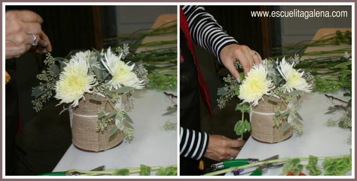 flores en arreglos vintage