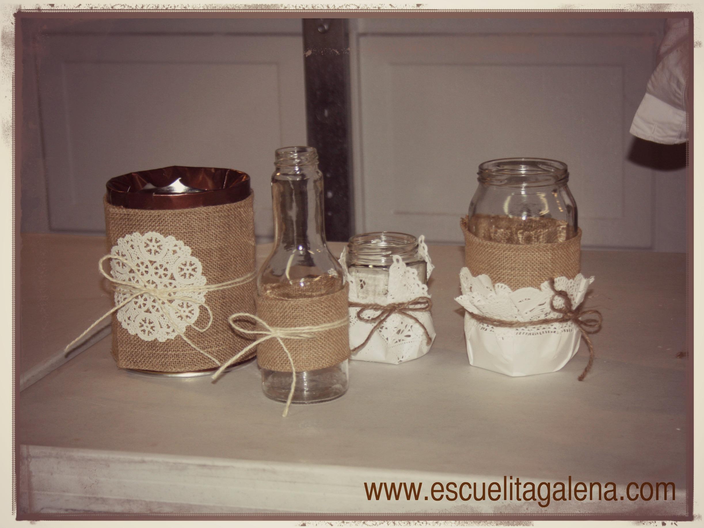 Centro de mesa en frascos estilo vintage ana galena - Decoracion con estilo ...