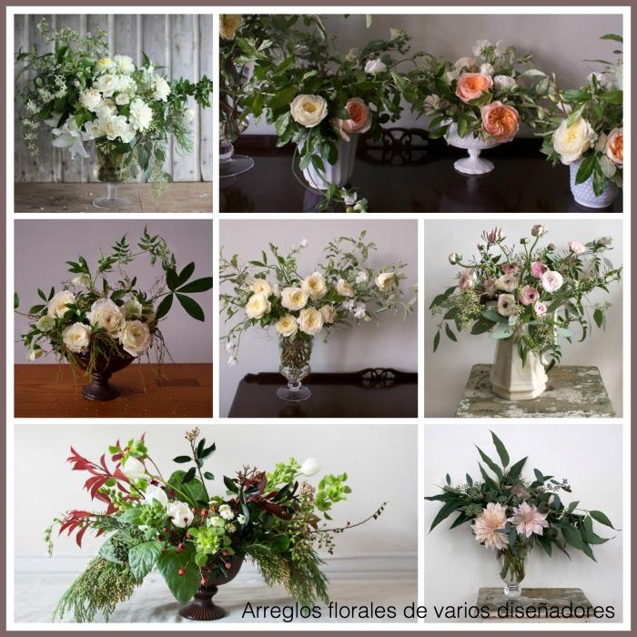 Arreglos florales de varios diseñadores