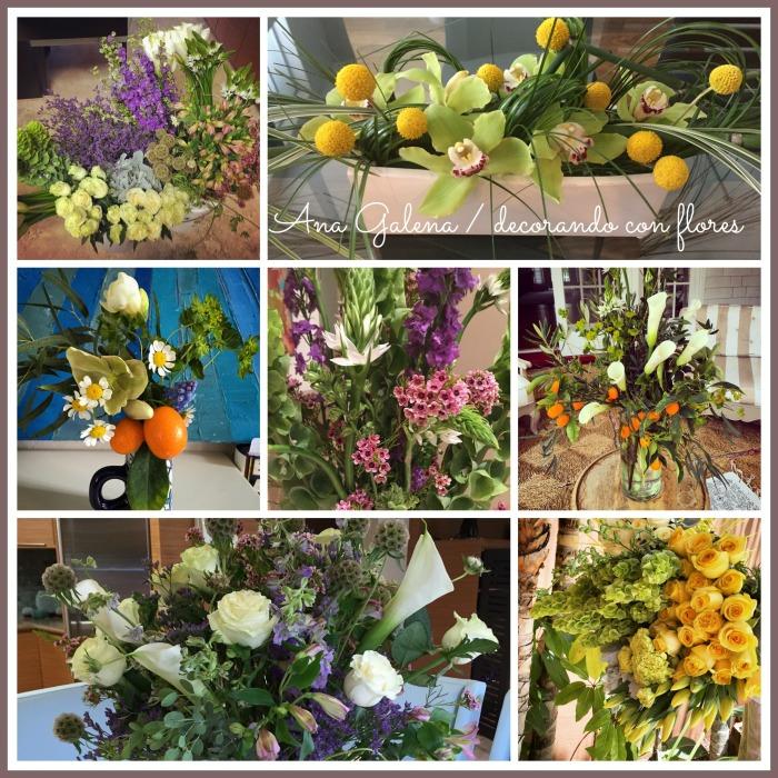 decorando con flores