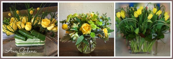 arreglos de flores amarillas
