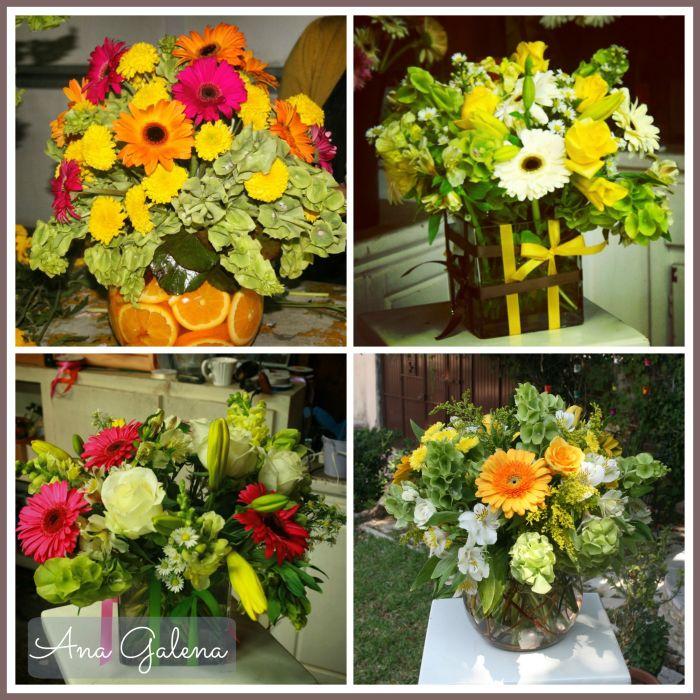 arreglos de flores con gerberas