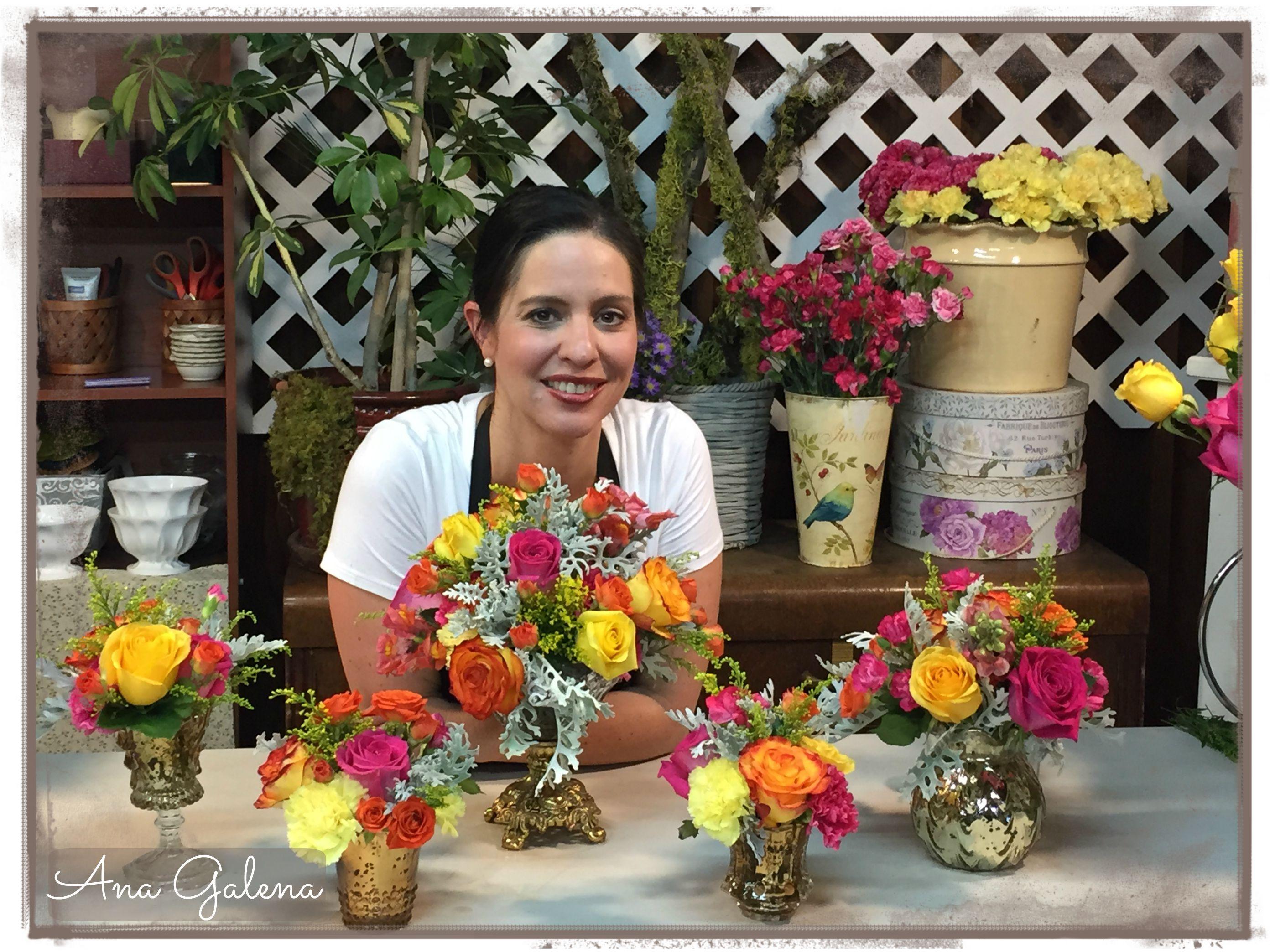 Centro de mesa colorido como escoger y combinar flores - Centros de mesa de flores ...