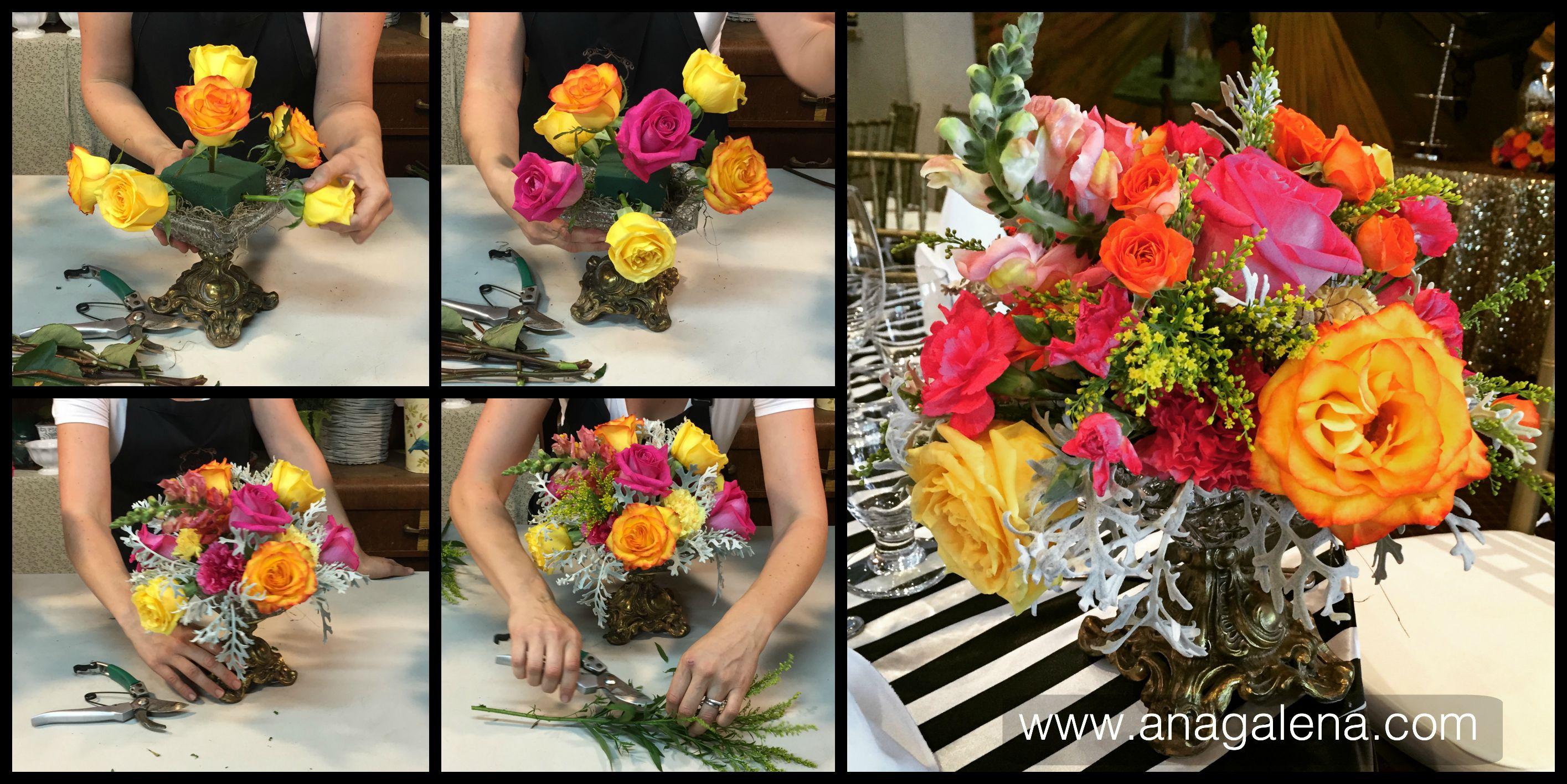 Centro de mesa colorido como escoger y combinar flores ana galena thecheapjerseys Image collections